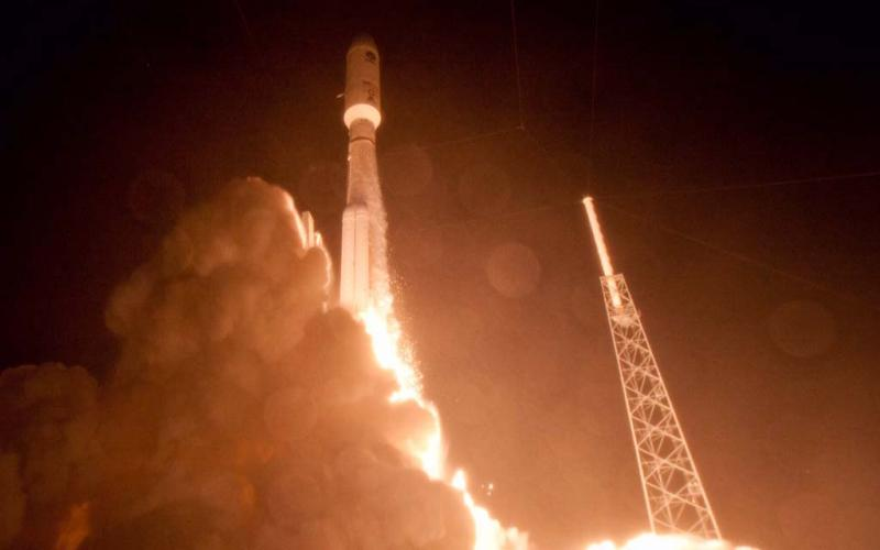 The MUOS-4 satellite launched last year; the MUOS-5 satellite experienced a difficulty on its way to its geosynchronous orbit and has been delayed.