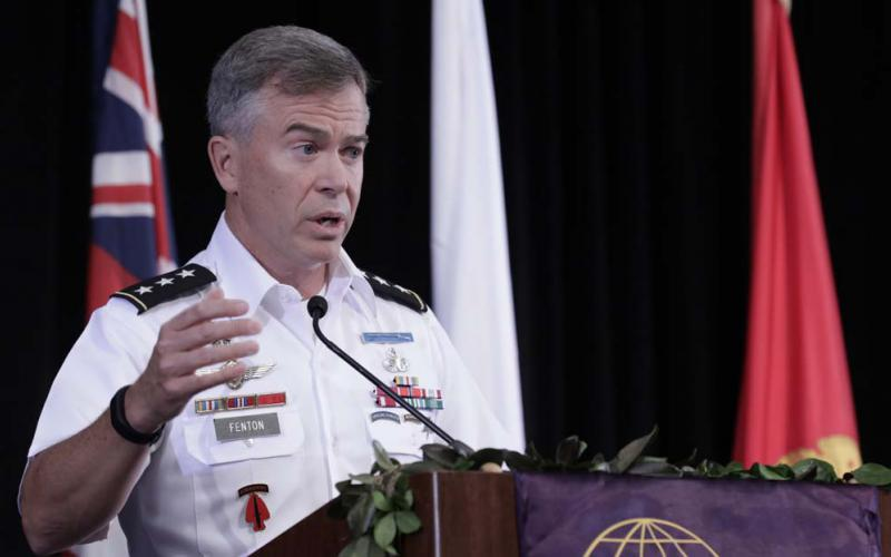 Lt. Gen. Bryan P. Fenton, USA, deputy commander, U.S. Pacific Command, discusses military challenges and opportunities in the Asia-Pacific region at TechNet Asia-Pacific.
