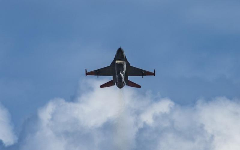 An F-16 Fighting Falcon fighter aircraft assigned to the 53rd Weapons Evaluation Group takes off June 18, 2019, from Tyndall Air Force Base, Florida. The First Air Force, based at Tyndall will now be providing command and control in support of the U.S. Space Command. U.S. Air Force photo by Airman 1st Class Bailee A. Darbasie