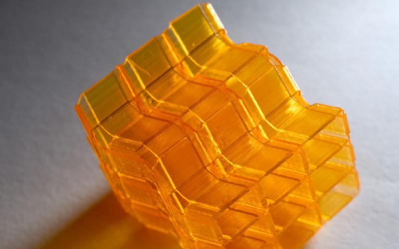 Researchers used digital light processing to advance the art of 3D printing complex origami structures. (Credit: Christopher Moore)