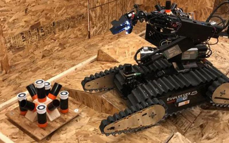 The Department of Homeland Security's Science and Technology Directorate and the National Institute of Standards and Technology's benchmarks are helping public safety officials by providing clear rules for evaluating how well robots perform tasks. Photo credit: DHS S&T