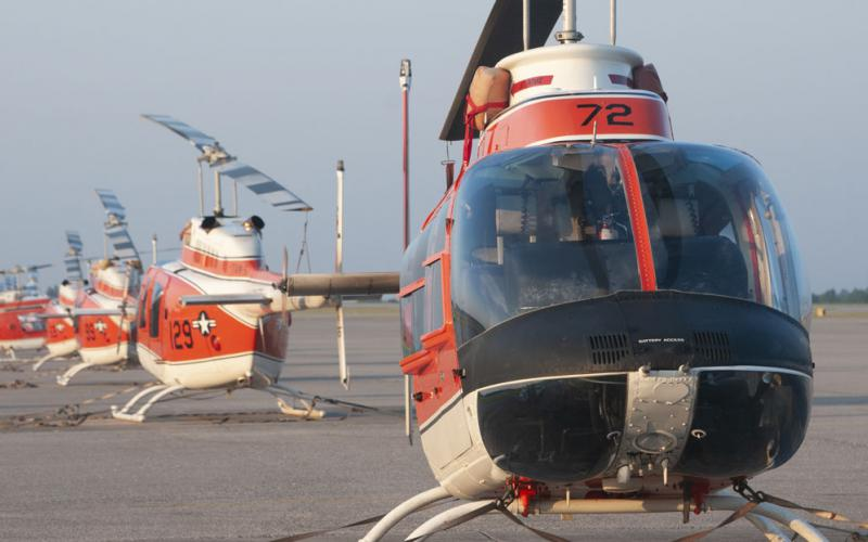 The Navy awarded a new contract to field 130 new TH-73A Advanced Helicopter Training System aircraft for the Navy, Marine Corps and Coast Guard to replace the 35-year old TH-57 aircraft, pictured. U.S. Navy photo