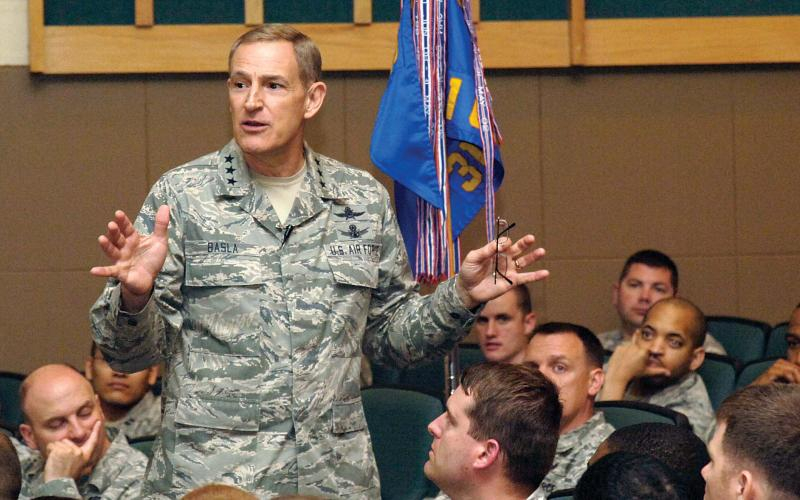 Now-retired Lt. Gen. Michael Basla, USAF, recalls the transition from signal to cyber.