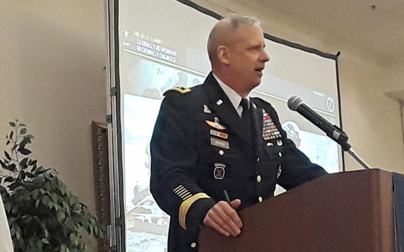 Lt. Gen. Scott Berrier, Army deputy chief of staff, G-2, speaks at the AFCEA Army Signal Conference.