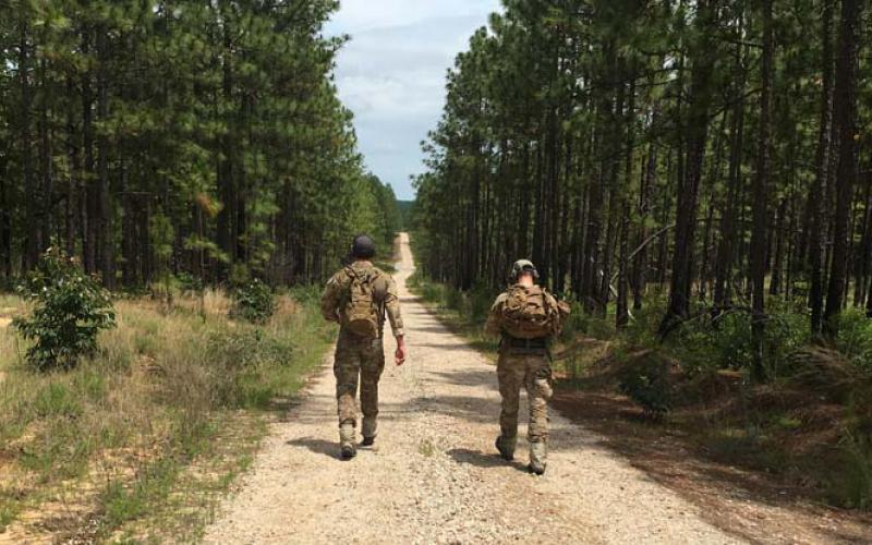 Soldiers at Fort Bragg, North Carolina, test the new positioning technology being developed by Echo Ridge.