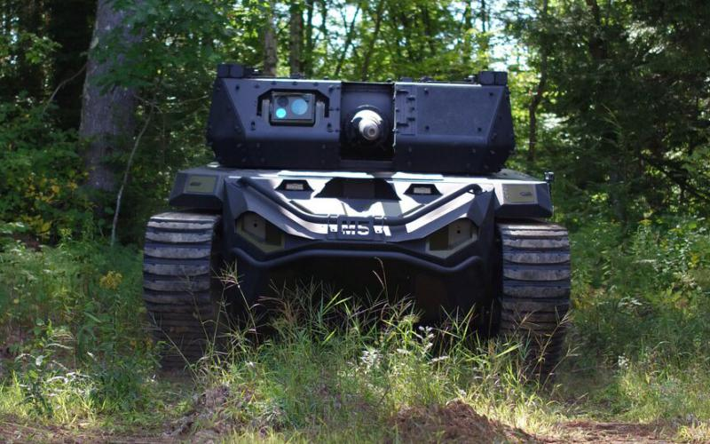 Textron describes its Ripsaw M5 Robotic Combat Vehicle as providing speed, mobility and unmanned capability. The company has been selected to provide four medium robotic vehicles to the U.S. Army. QinetiQ North America will be awarded a contract for four light ground robots. Photo courtesy of Textron