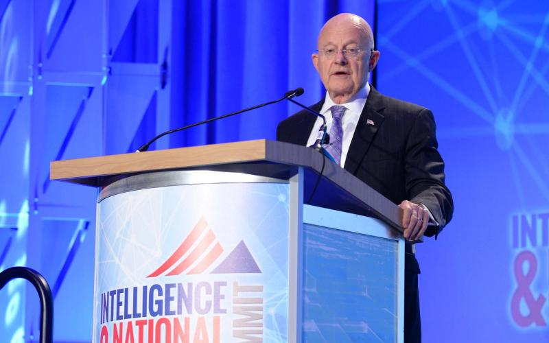 Director of National Intelligence James Clapper speaks at the Intelligence & National Security Summit. Photo by Herman Farrer Photography