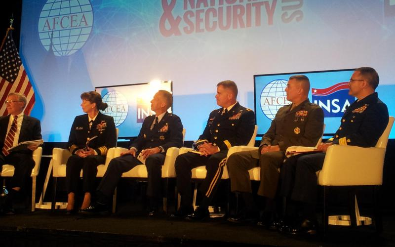 Panelists discuss military intelligence at the Intelligence and National Security Summit.