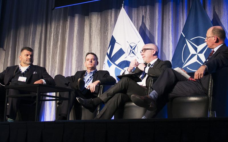 A panel explores acquisition innovation at NITEC 2017 in Ottawa.