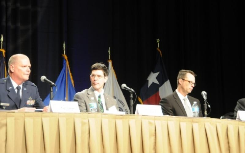 Members of the Air Force's Task Force Cyber Secure talk about challenges to securing weapons systems during the TechNet Air symposium.