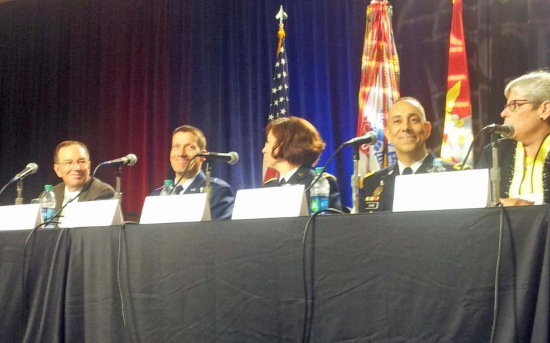A panel speaks at TechNet Augusta.