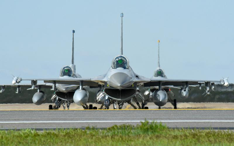 The new 87th Electronic Warfare Squadron at the U.S. Air Force's 53rd Wing will provide key electronic warfare and cyber assessments to combat and mobility air forces at the major commands across the globe. Pictured are Air Force F-16 aircraft from a recent combat exercise at Hill Air Force Base, Utah on May 1. U.S. Air Force photo by R. Nial Bradshaw