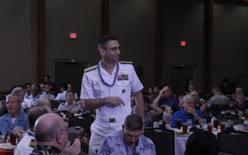 Rear Adm. Matthew J. Carter, USN, deputy commander, U.S. Pacific Fleet discusses resiliency at TechNet Asia-Pacific.