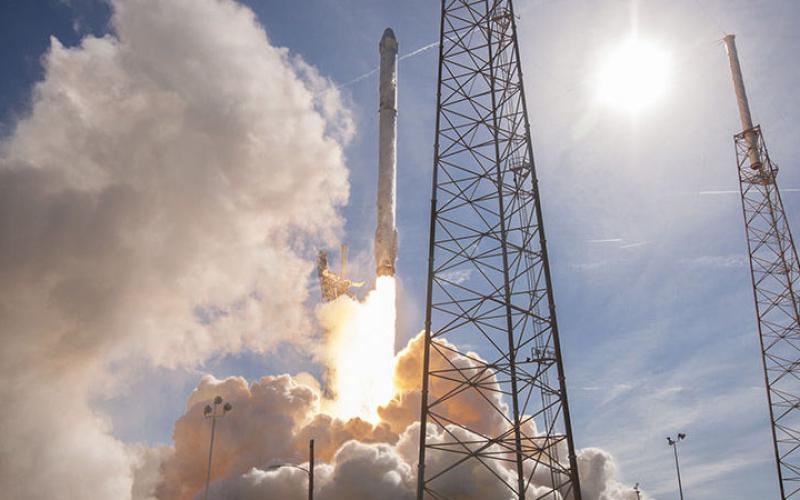 SpaceX, which is pioneering the ability to re-use rockets for launches, just obtained governmental approval for a new satellite-based broadband system. Photo courtesy of SpaceX.