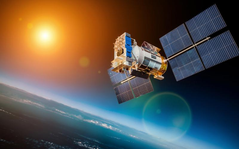 Researchers at Sandia National Laboratories search for ways to protect satellites from a variety of threats, including missiles, lasers and electronic warfare. Credit: Shutterstock/Andrey Armyagov