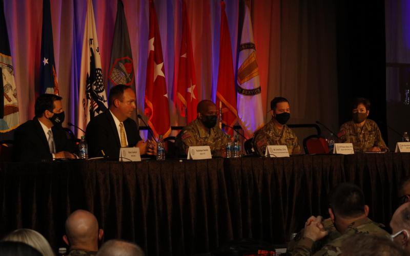 Panelists at TechNet Augusta 2021 discuss how to achieve a unified network. Photo by Michael Carpenter