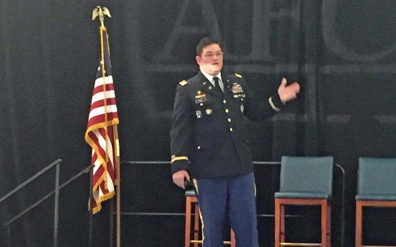 """""""How can we make security effective and intuitive, yet usable?"""" Col. Andrew O. Hall, USA, director, Army Cyber Institute, asked attendees at AFCEA's first Cyber Education, Research and Training Symposium."""