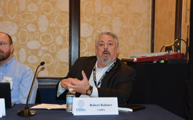 Robert Rahmer, program manager, IARPA, suggests that if cyber attacks are predictable, the warnings need to be actionable. Credit: Katie Helwig
