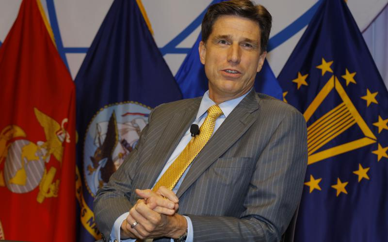 Dana Deasy, the new DOD CIO, speaks at the AFCEA Defensive Cyber Operations Symposium.