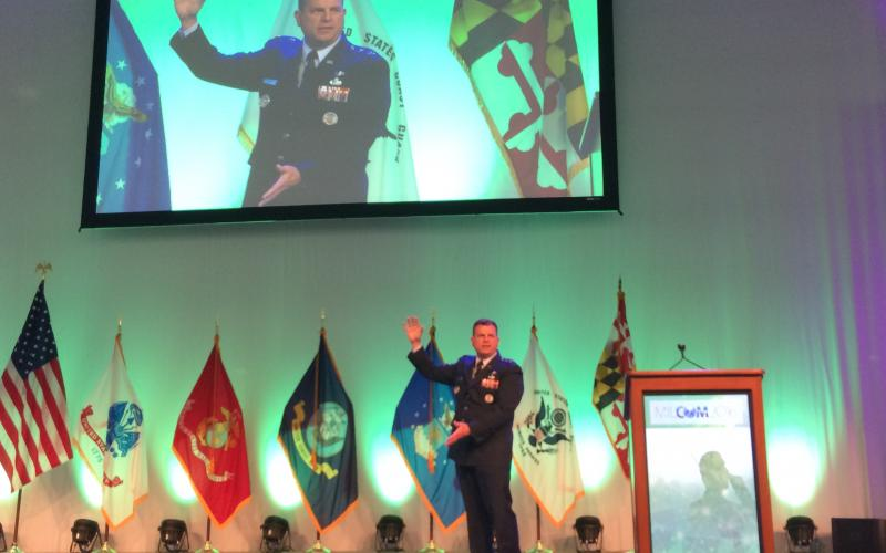 """Data flow is one of the primary challenges we face,"" says Maj. Gen. Dwyer Dennis, USAF, at MILCOM 2016."