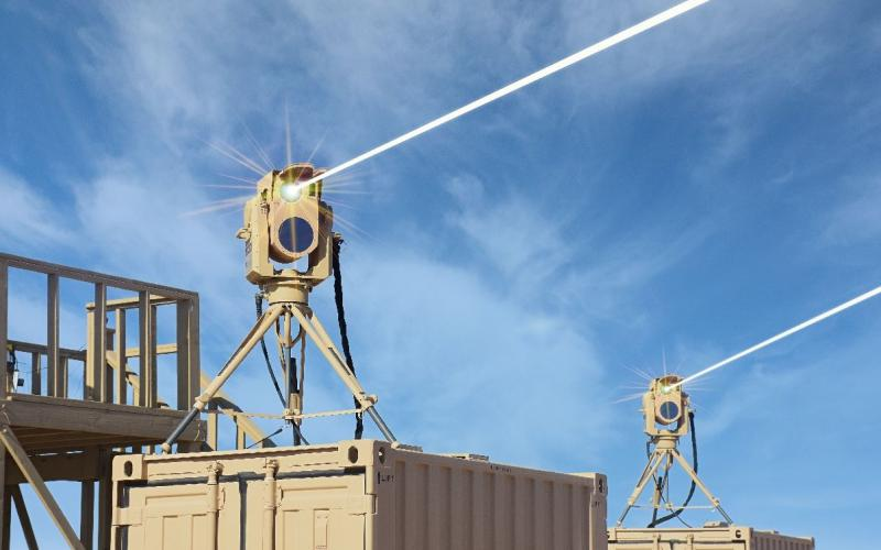 In addition to tactical vehicle applications, the Compact Laser Weapons System can also be mounted for ground-based needs. Credit: Boeing
