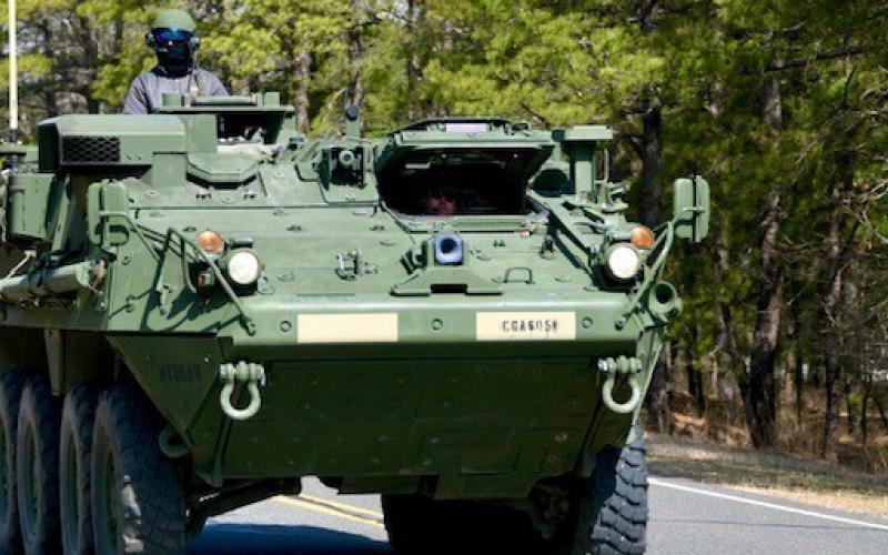 Program Executive Office for Command, Control, Communications-Tactical and the C5ISR Center integrate Stryker vehicles with the C5ISR/Electronic Warfare Modular Open Suite of Standards (CMOSS) capabilities during the Network Modernization Experiment (NetModX) 2021 from May to July, 2021 at the C5ISR Center's Ground Activity, Joint Base McGuire-Dix-Lakehurst, New Jersey. Credit: U.S. Army photo by Kathryn Bailey, PEO C3T