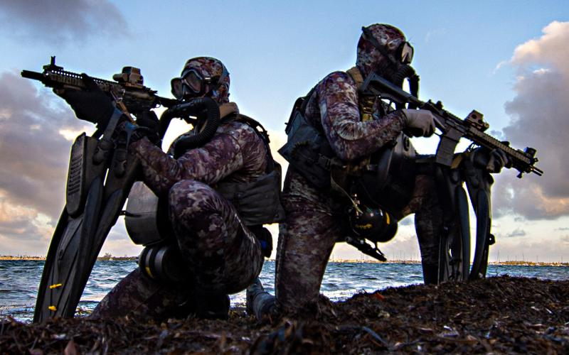 Navy SEALs conduct dive operations training in the Atlantic Ocean, May 29, 2019. A proposed reserve force of combat-ready, active-duty special operators could allow the Navy Special Warfare Command the agility it needs to respond to the full spectrum of missions around the globe while experimenting with new tactics, techniques and procedures. Credit: Navy Senior Chief Petty Officer Jayme Pastoric