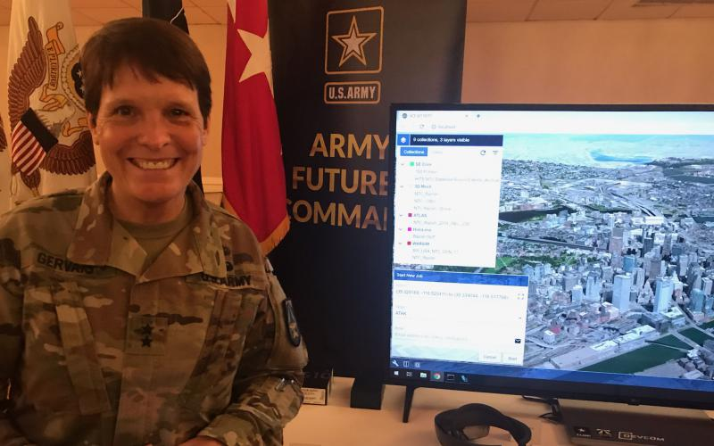 Synthetic Training Environment Cross-Functional Team Director Maj. Gen. Maria Gervais, USA, purports that the Army's new 3D mapping tool, One World Terrain, will bring vital information to soldiers at the tactical edge.