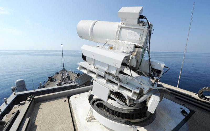 With the HELIOS contract award, the Navy's first high-energy laser weapon and optic dazzler is now in the works, building off of the success of the LAWS demonstrator tested aboard the decommissioned USS Ponce between 2014 and 2017.