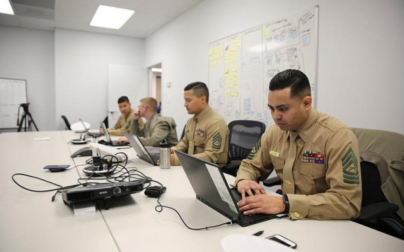The new Marine Corps computer system, MCRISS II, brings commercial cloud, a custom dashboard, a mobile platform, and eventually artificial intelligence and other technologies to recruiters. U.S. Marine Corps photo by Joseph Neigh
