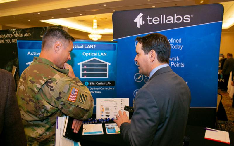 In addition to presentations, the AFCEA Army Signal Conference includes exhibits demonstrating industry solutions.