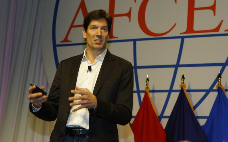 Mark Russinovich, chief technology officer, Microsoft Azure, discusses machine learning at the AFCEA Defensive Cyber Operations Symposium.