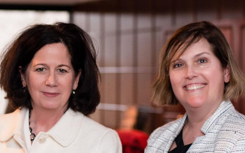 Lori Gillen (l) and Sandra Clifford of the Small Business Administration laud its All Small Mentor-Protégé Program (ASMPP). Photo by Elizabeth Moon