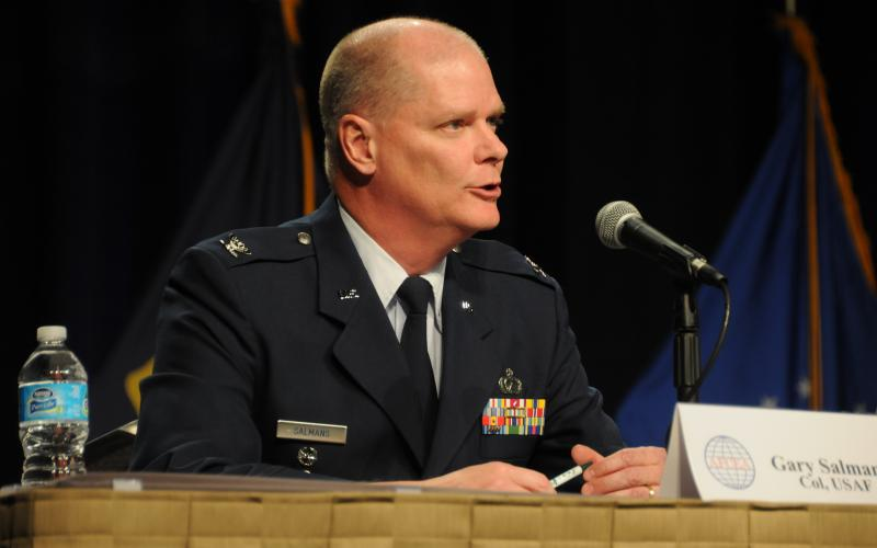 Col. Gary Salmans, USAF, senior materiel leader of the Cryptologic and Cyber Systems Division within Air Force Materiel Command, says resources are available to fund cyber—for now.