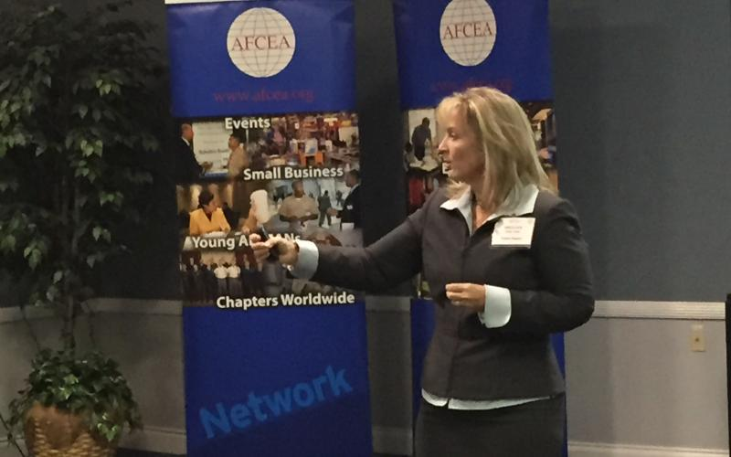 Shelley Smith, founder and president of Premier Rapport, discusses taking risks and achieving results at the inaugural Women in AFCEA event.