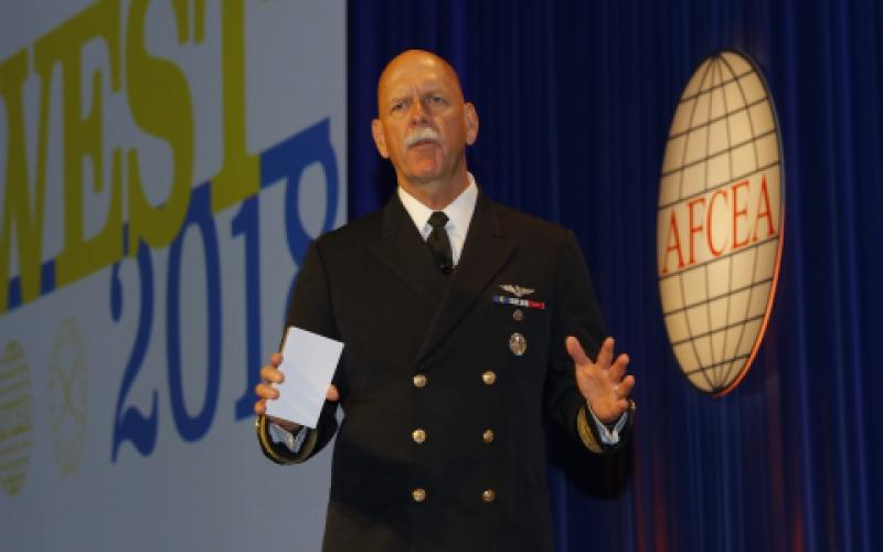 Adm. Scott H. Swift, USN, commander of the U.S. Pacific Fleet, shares his views on the China challenge at West 2018.
