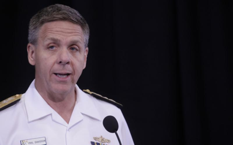 Adm. Philip S. Davidson, USN, commander of the U.S. Indo-Pacific Command, describes the command's new cyber challenges and policy at TechNet Asia Pacific 2018 in Honolulu.