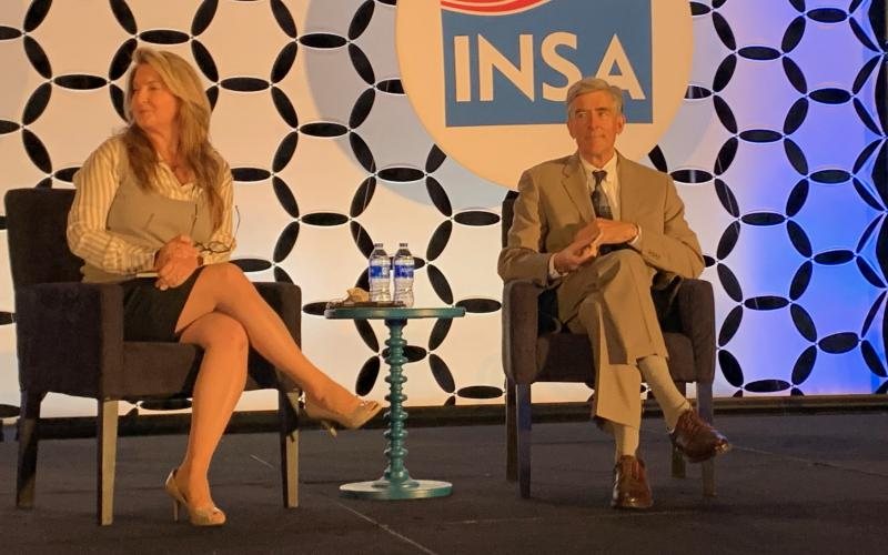 Chris Inglis, national cyber director, discusses cybersecurity challenges with Suzanne Kelly, CEO and publisher, The Cipher Brief, at the 2021 Intelligence and National Security Summit.