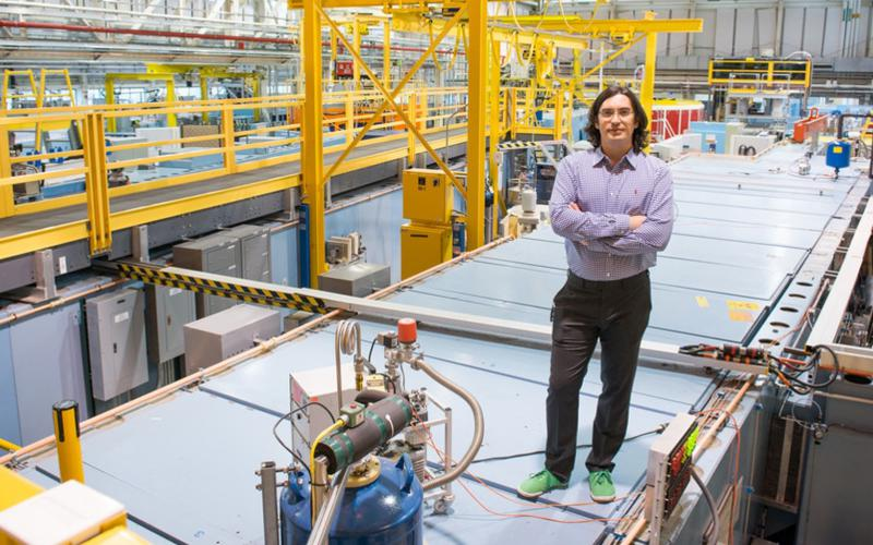 """Dmitry Pushin, from the University of Waterloo's Institute for Quantum Computing and a professor in the Canadian university's Department of Physics and Astronomy, says that recent breakthroughs during an international research collaboration at the National Institute for Standards and Technology (NIST) will """"open the door to future technologies,"""" such as quantum-related capabilities. Pushin is pictured at NIST's Center for Neutron Research in Maryland. Credit: University of Waterloo/NIST"""