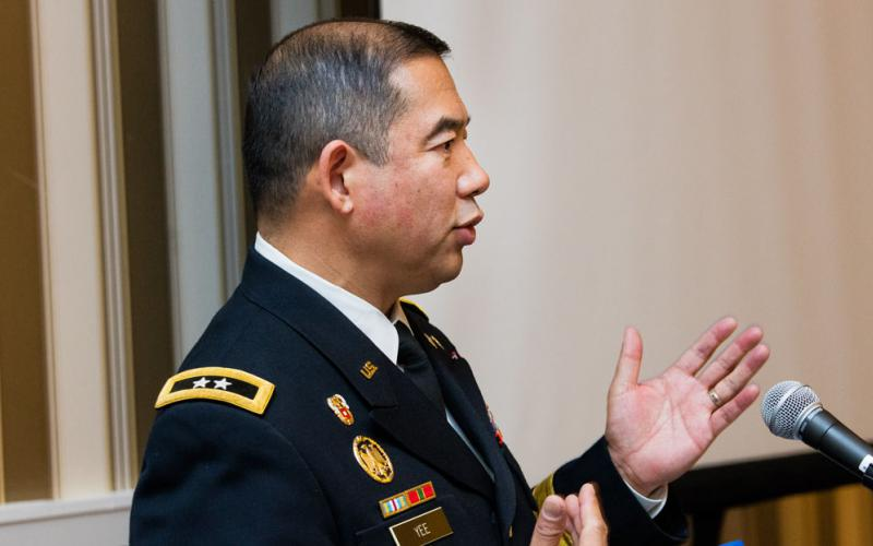 Maj. Gen. Garrett Yee, USA, military deputy to the Army Chief Information Officer(CIO)/G-6, offers potential solutions to the challenge of bringing innovative technologies to the force rapidly and equipping them with adequate cybersecurity.