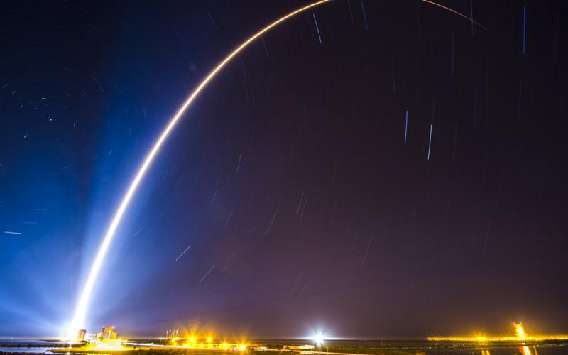An Atlas V rocket carrying a Space-Based Infrared System Geosynchronous Earth Orbit satellite for an Air Force mission lifts off from Cape Canaveral Air Force Station, Florida, in January. DOD is proposing the creation of the U.S. Space Force to protect the space domain. Credit: United Launch Alliance