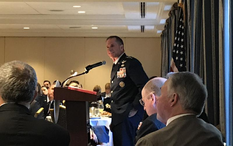 Gen. David Goldfein, USAF, chief of staff of the Air Force, speaking at the Mitchell Institute Strategic Deterrence Breakfast event on June 26, warns of increasing posturing of Russia and China in the Arctic region.