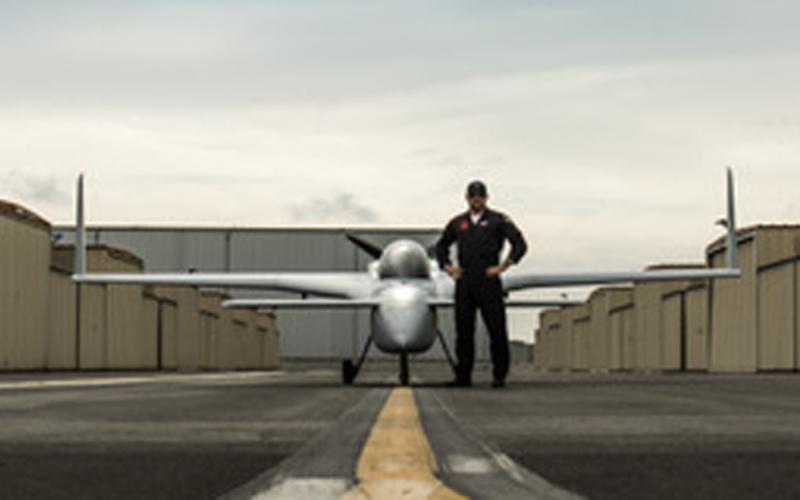 A Santa Monica-based company has developed an augmented reality platform to allow fighter pilots to train in aerial warfare against virtual opponents. Credit: Photo courtesy of Red6 Aerospace.