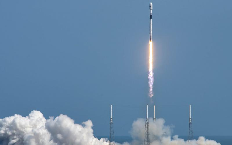 The successful launch of the GPS III Space Vehicle 03 and the recovery of the Falcon 9 rocket booster represents another step in innovation. Credit: SpaceX