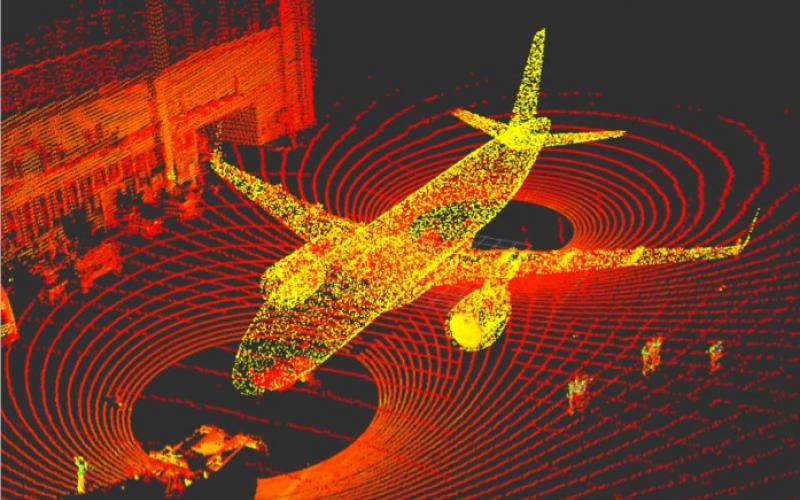 For ground operators, Evitado's solution digitally defines safety zones around an aircraft to detect and warn against any kind of potential collision. Credit: Evitado