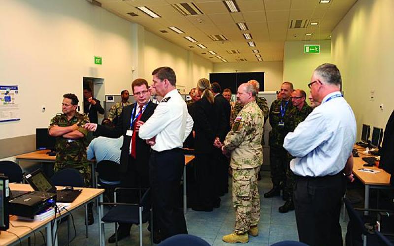 NATO commanders monitor the progress of the CWIX 2012 exercise in Poland.  (NATO Photo)