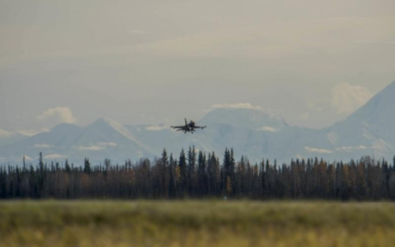 The Defense Intelligence Agency's (DIA's) Science and Technology Directorate is developing a new strategy to pull in innovation to support U.S. warfighters' understanding of foreign militaries. A U.S. Air Force F-16 Fighting Falcon lands at Eielson Air Force Base, Alaska.  USAF/Airman 1st Class Aaron Larue Guerrisky