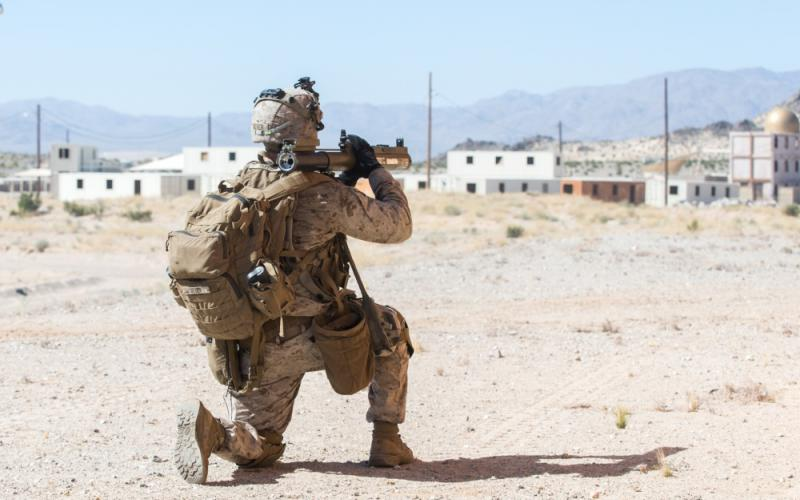 U.S. Marine Corps Pfc. Hayden Severs, an infantry rifleman, notionally fires a rocket during the Adversary Force Exercise at Twentynine Palms, California, June 18, 2020. To empower U.S. warfighters, the DIA is seeking new solutions across a broad range of capabilities.  USMC/Lance Cpl. Brian Bolin Jr.