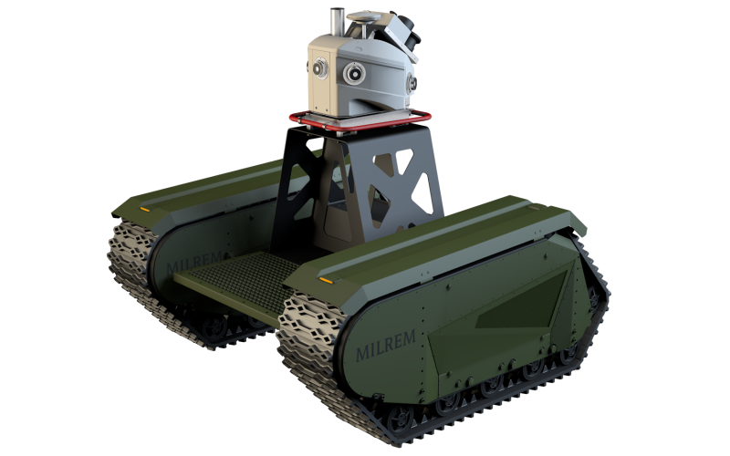 Developed by Estonia-based company Milrem, the Tracked Hybrid Modular Infantry System, or THeMIS, provides a new evolution in unmanned ground vehicles.