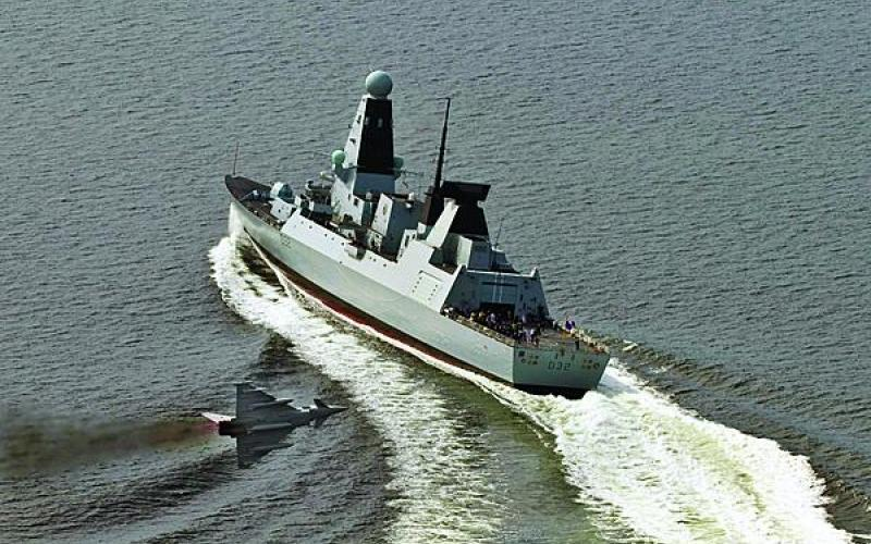 Shrinking defense budgets are forcing many Wester European nations, such as the United Kingdom, to cut back on major weapons platforms such as this Eurofighter Typhoon combat jet and Type 45 Destroyer.